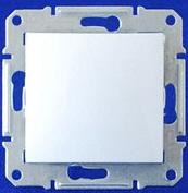 Двухполюсный выключатель одноклавишный 16А Sedna (белый)