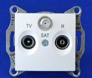 Розетка TV-R-SAT проходная 4 dB Sedna (белый)