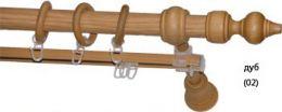 Карниз деревянный ДК 27Д дуб