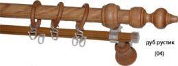 Карниз деревянный ДК 27Д рустикальный дуб
