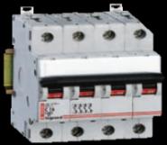 Модульный выключатель Legrand 4-полюсный 100А 4M