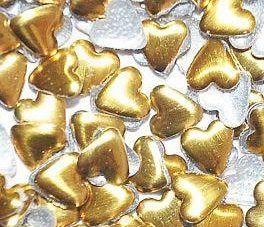 """Металлические украшения для дизайна """"Сердце золото"""""""