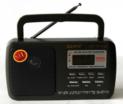 Радиоприёмник KIPO KB-7077 р/п сет+цифр