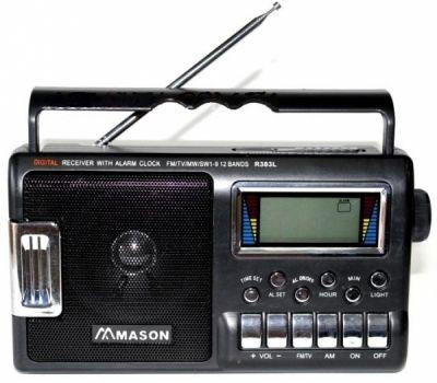 Радиоприёмник Mason 383L p/п сетев.цифр.