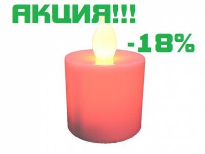 Свеча LED Огонёк LD-115 (красный)