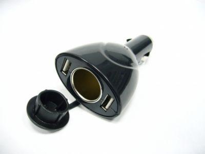 Разветвитель авто прикуривателя на 1 гнездо 12В, 2 гнезда USB Орбита AV-307