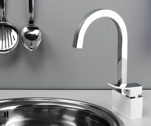 Смеситель для кухни с поворотным изливом  Aller 1067 WHITE  wasserKraft