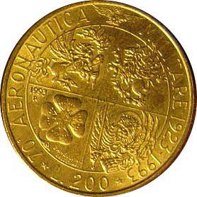 Италия 200 лир 1993 г.