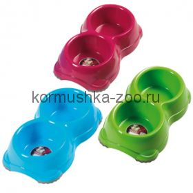 Миска двойная Double Smarty bowls Non-slip
