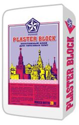 PLASTER BLOCK (Русеан) - Монтажный клей для гипсовых плит (20 кг)