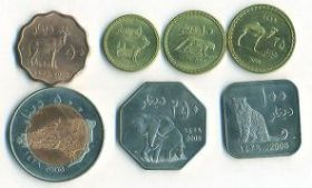 Фауна Набор монет Султанат Дарфур(Судан) 2008