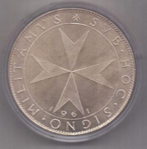 2 скудо 1961 г. Мальтийский орден