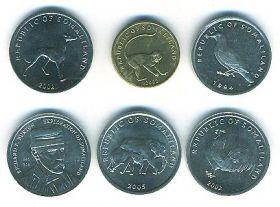 Фауна Набор монет Сомалиленд  2002-2005( 6 монет)