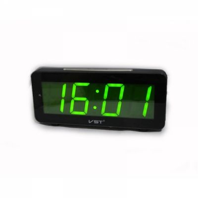 VST763-2 часы 220В зел.цифры