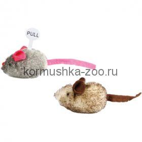 Flamingo плюшевая мышь со звуком (2шт)