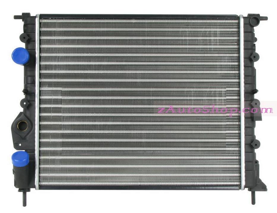 RENAULT LOGAN (SD) 07.04 - 01.09 :Радиатор охлаждения (430x378 1,4;1,6 MT;AT -AC DACIA LOGAN '04-; 1,1;1,2;1,4;1,6 RENAULT CLIO '98-)