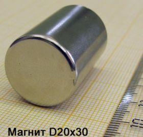 Магнит неодимовый 20х30 мм