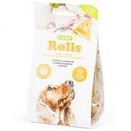 TiTBiT Печенье для собак Rolls с начинкой из мяса индейки и сыра (200 г)