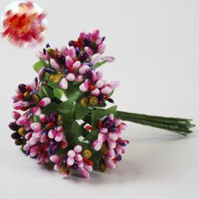 Застёжки-цветы ассорти 12 шт/уп