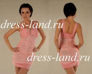 Розовое мини-платье