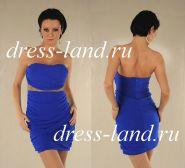 Синее мини-платье