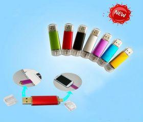 Флешка для смартфона и ПК (64 ГБ, Micro USB, USB 2.0)