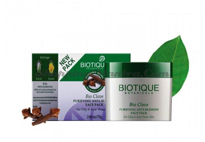 Маска против пигментных пятен, угрей и прыщей Биотик Гвоздика (Biotique Bio Clove Face Pack)