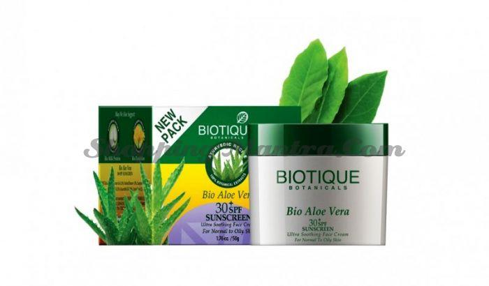Крем для лица Биотик Алое Вера SPF 30 (Biotique Bio Aloe Vera Face Sun Cream)