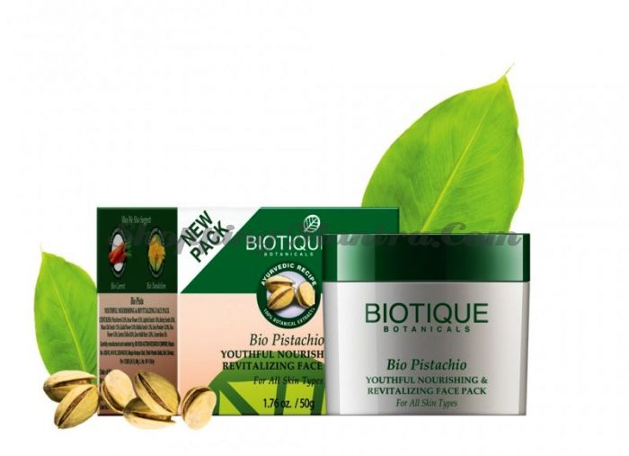 Омолаживающая маска для лица Биотик Фисташки | Biotique Bio Pistachio Face Pack
