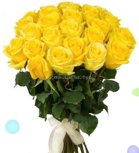 Элитные высокие (80-90 см) желтые голландские розы