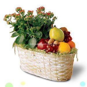 Корзина с фруктами и цветами №2