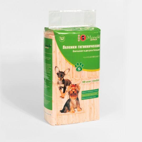 Maneki Пеленки гигиенические для домашних животных, серия Yo-Yo, размер S, 33х45 см, 100 шт./упаковка