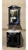 """Комплект мебели для ванной комнаты """"Руссильон PROVENCE-60 черное дерево"""" с зеркалом стиль Прованс"""