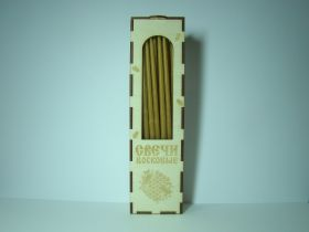 Свечи восковые в деревянной упаковке