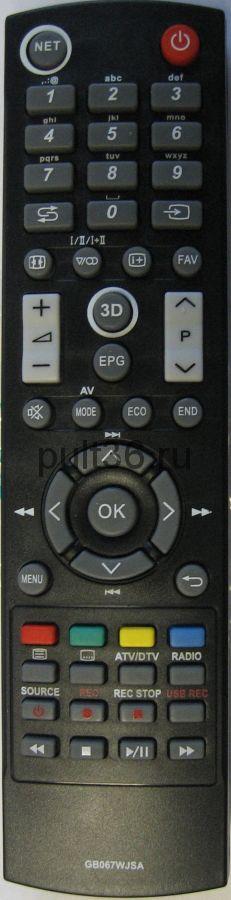 Пульт ДУ Sharp GB067WJSA ic LCD LED TV 3 D