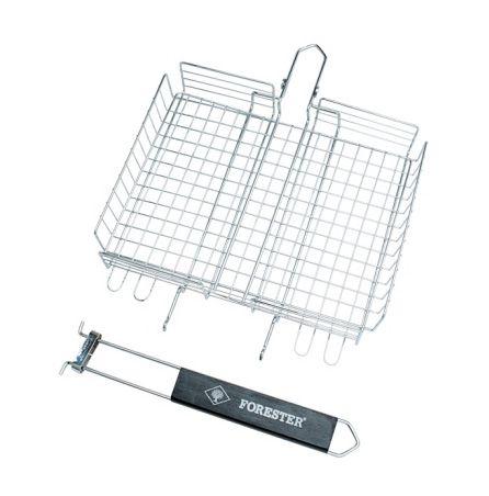 FORESTER MOBILE. Пикник под ключ! Решетка-грильсо съёмной ручкой, универсальная, 24 х 30 см