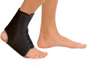 Фиксатор голеностопного сустава на шнуровке с ребрами жесткости Тривес Т-8608/1