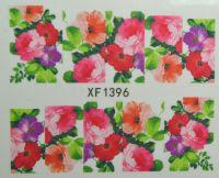 Водная наклейка для дизайна ногтей XF 1396