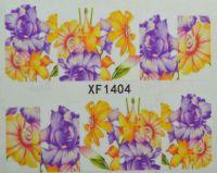 Водная наклейка для дизайна ногтей XF 1404
