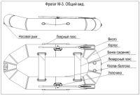 Надувная лодка пвх Фрегат М-3