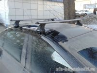 Багажник на крышу Peugeot 408, Атлант, аэродинамические дуги