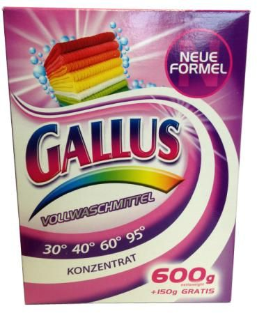 Gallus Концентрированный универсальный стиральный порошок для белого и цветного белья 8 стирок 750 г