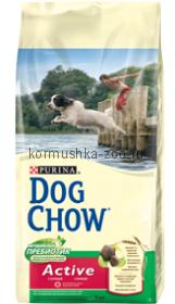 Dog Chow для взрослых активных собак с курицей