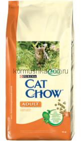 Cat Chow для кошек с курицей и индейкой