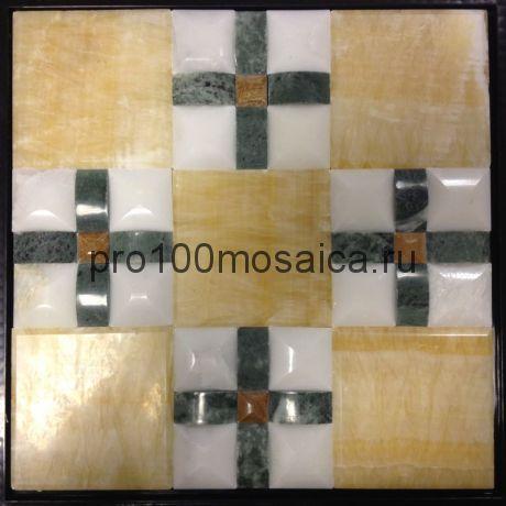 MLS014. Бесшовная мозаика 3D Fusion Stone, размер: 300*300*13 мм (Opera Decoration)