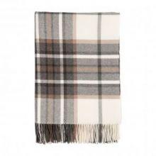 Классический шотландский плед, 100 % стопроцентная шерсть ягнёнка, расцветка Традиционная Клетка - Цвет Кременевый  TRADITIONAL CHECK- Flint, плотность 6