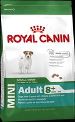 Royal Canin Mini Adult 8+ для собак ( с 8 до 12 лет) маленьких (до 10 кг) размеров 4 кг.