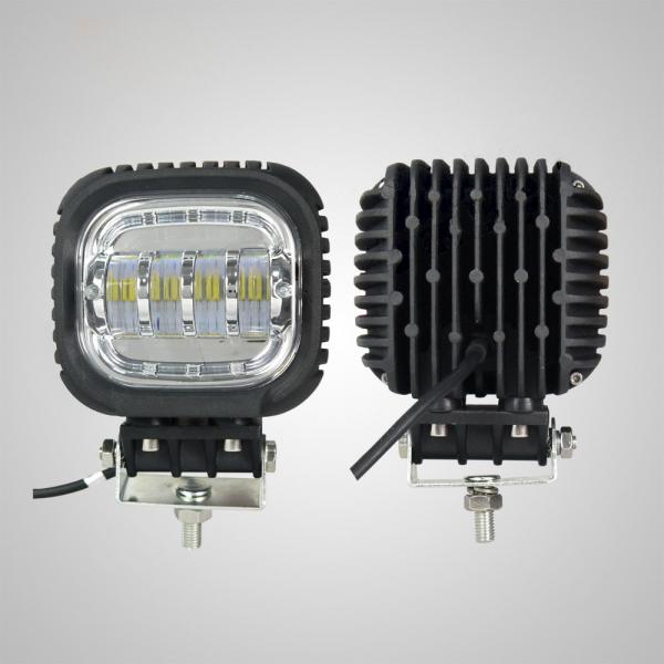 Светодиодная фара дополнительного света квадратная 40W линзованная