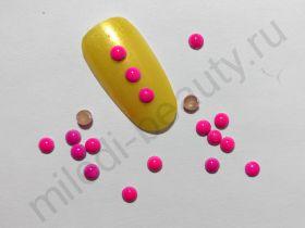 Фигурки металлические - кружочки (3 мм) цвет: розовый
