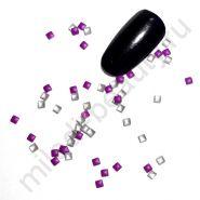 Фигурки металлические - квадрат (2 мм) цвет: фиолетовый.